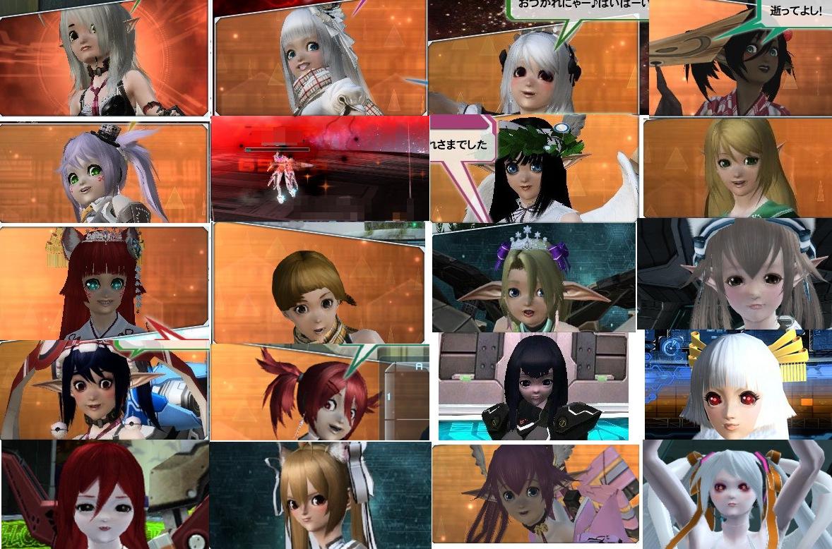 PSO2って無限のキャラクタークリエイトを売りにしてるネトゲの美少女集めたーったたったたー [無断転載禁止]©2ch.net ->画像>344枚